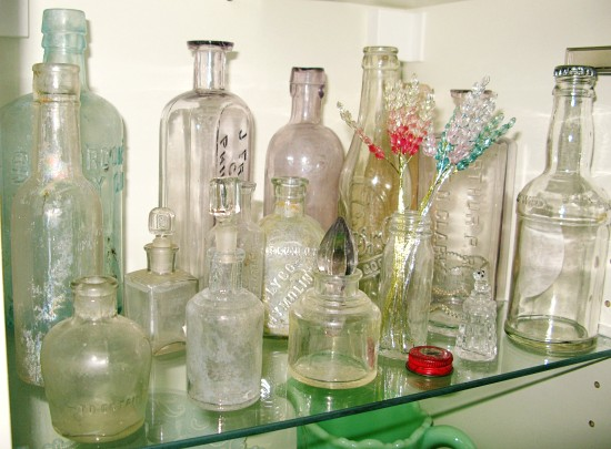 antique glass bottles